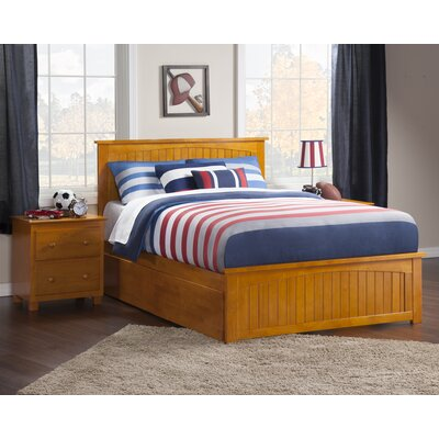 Bermuda Platform Bed with Trundle Size: Full, Finish: Caramel Latte