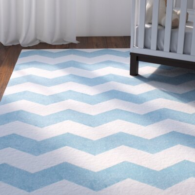 Rowan Light Blue Area Rug Rug Size: Rectangle 53 x 77