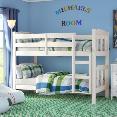 Theodore Twin Bunk Bed Finish: Soft White