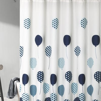Akira Shower Curtain Color: Blue