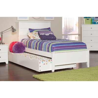 Skylar Twin Panel Bed Finish: White