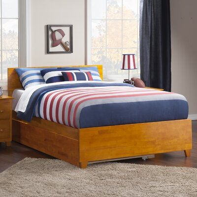 Greyson Full Platform Bed with Trundle Size: Full, Color: Caramel Latte