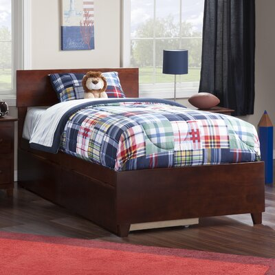 Greyson Platform Bed with Underbed Storage Finish: Walnut, Size: Twin