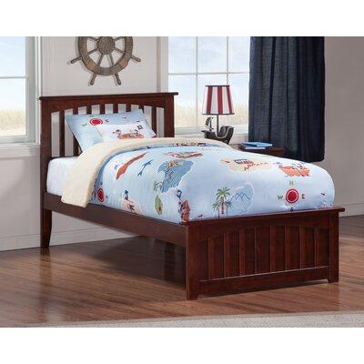 Rhonda Panel Bed Size: Twin, Finish: Walnut