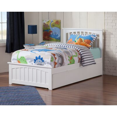 Gail Platform Bed with Trundle Size: Full, Finish: White