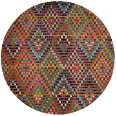 Area Rug Rug Size: Round 67
