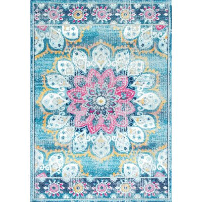 Vera Turquoise Area Rug Rug Size: Rectangle 9 x 12