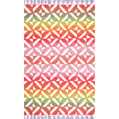 Sylva Red/Pink Area Rug Rug Size: Rectangle 5 x 8