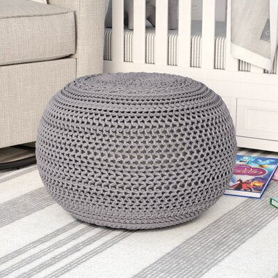 Ramon Color Cable Knit Ottoman Upholstery: Gray