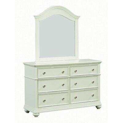 Adele 6 Drawer Dresser with Mirror
