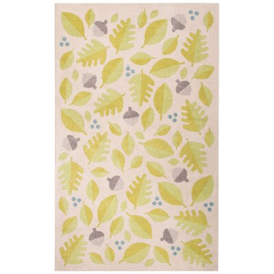 Annie Green/Ivory Area Rug Rug Size: Rectangle 2 x 3