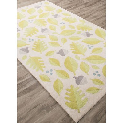 Annie Green/Ivory Area Rug Rug Size: Rectangle 76 x 96