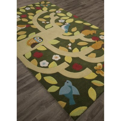 Annie Hand-Tufted Green/Yellow Area Rug Rug Size: Rectangle 5 x 76