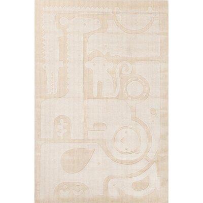 Keiko Hand-Tufted Ivory/White Area Rug Rug Size: 8 x 10