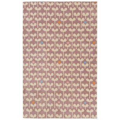 Keiko Hand-Tufted Purple/Ivory Area Rug Rug Size: 4 x 6