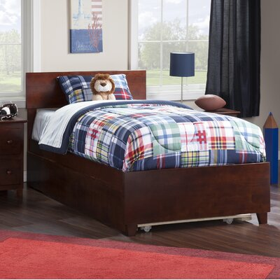 Greyson Twin Platform Bed with Trundle Size: Twin, Color: Walnut