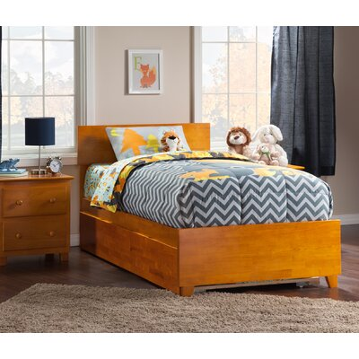 Greyson Twin Platform Bed with Trundle Finish: Caramel Latte