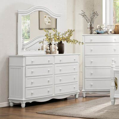 Alberta 8 Drawer Dresser with Mirror