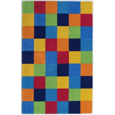 Shari Boys Blocks Blue Area Rug Rug Size: Rectangle 5 x 76
