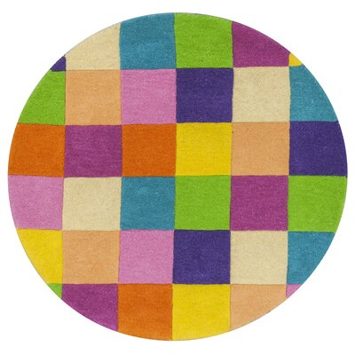 Shari Girls Blocks Area Rug Rug Size: Round 3