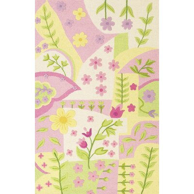 Shari Princess Dreams Pink/Green Area Rug Rug Size: 33 x 53