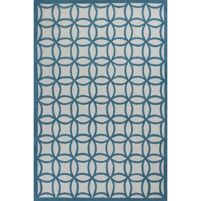 Shari Teal Kaleidoscope Area Rug Rug Size: 33 x 53