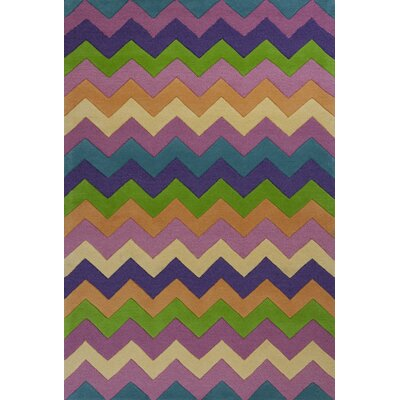 Shari Multi Chic Ziggy Zaggy Area Rug Rug Size: 33 x 53