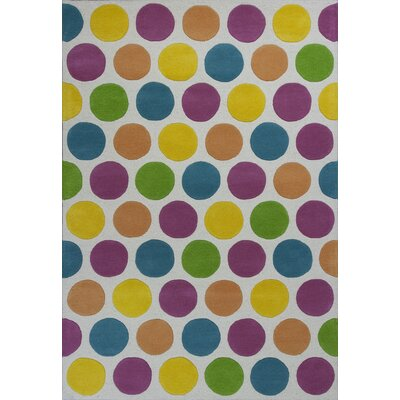 Shari Multi Chic Lotsa Dots Area Rug Rug Size: 5 x 76