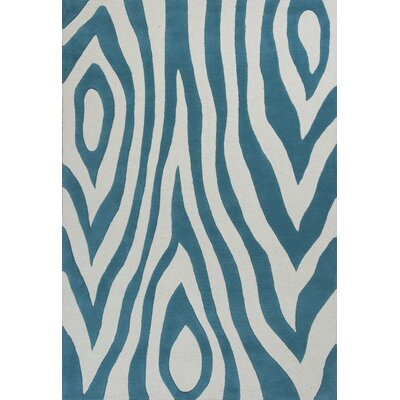 Shari Teal Wild Side Area Rug Rug Size: 33 x 53