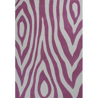 Shari Pink Wild Side Area Rug Rug Size: 76 x 96