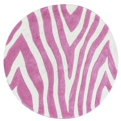 Shari Pink Wild Side Area Rug Rug Size: Round 3