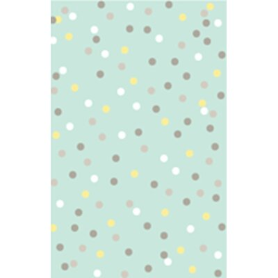 Confetti Tufted-Hand-Loomed Blue/Gray/Yellow Area Rug Rug Size: 4 x 6