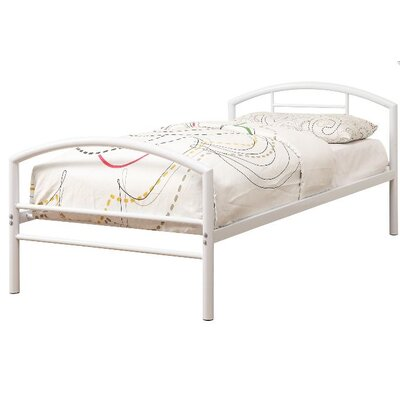 Makenna Twin Platform Bed Color: White