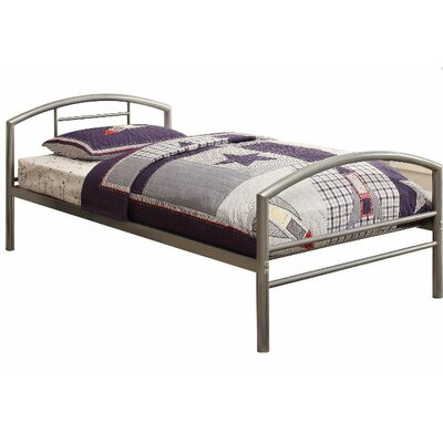 Makenna Twin Platform Bed Color: Silver
