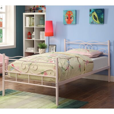 Francesca Twin Platform Bed Color: Pink