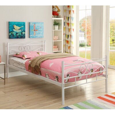 Francesca Twin Platform Bed Color: White