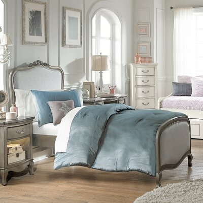 Winifred Platform Bed Size: Twin, Color: Antique Silver