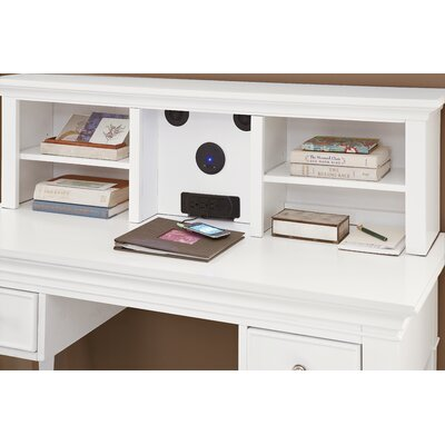 Javin 14 H x 47.5 W Wood Desk Hutch Finish: White