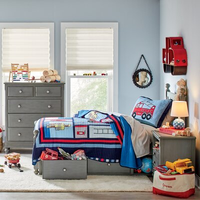 Javin Kids Panel Bed with Storage
