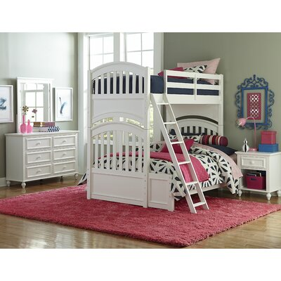Hannah Twin over Full Bunk Bed Color: White