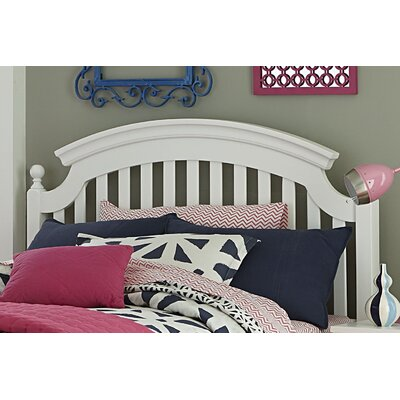 Hannah Slat Headboard Size: Full, Color: White