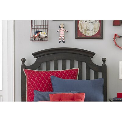 Hannah Slat Headboard Size: Twin, Color: Molassess