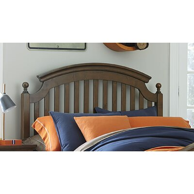 Hannah Slat Headboard Finish: Molassess, Size: Full