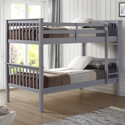Iyanna Twin over Twin Bunk Bed Color: Gray