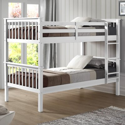 Iyanna Twin over Twin Bunk Bed Color: White