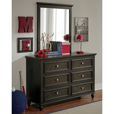Hannah 6 Drawer Double Dresser with Mirror