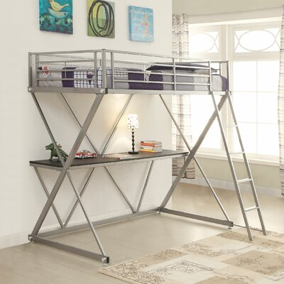Rachelle Workstation Loft Bunk Bed with Desk Size: Twin