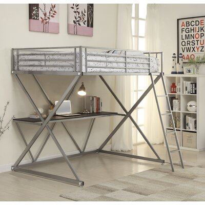 Rachelle Workstation Loft Bunk Bed with Desk Size: Full