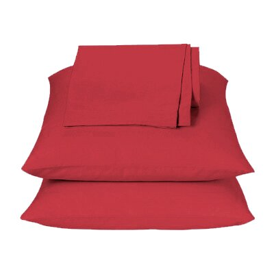 Jeana 3 Piece Sheet Set Color: Red