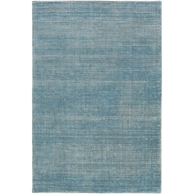 Codey Hand-Loomed Aqua/Khaki Area Rug Rug size: Rectangle 4 x 6